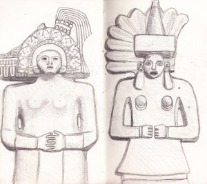 inca statues pencil