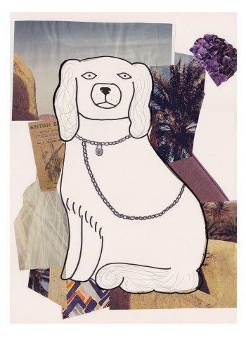 Collaged Dog A3 Abi Ponton