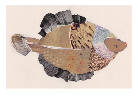 Collaged Plaice A3 Abi Ponton